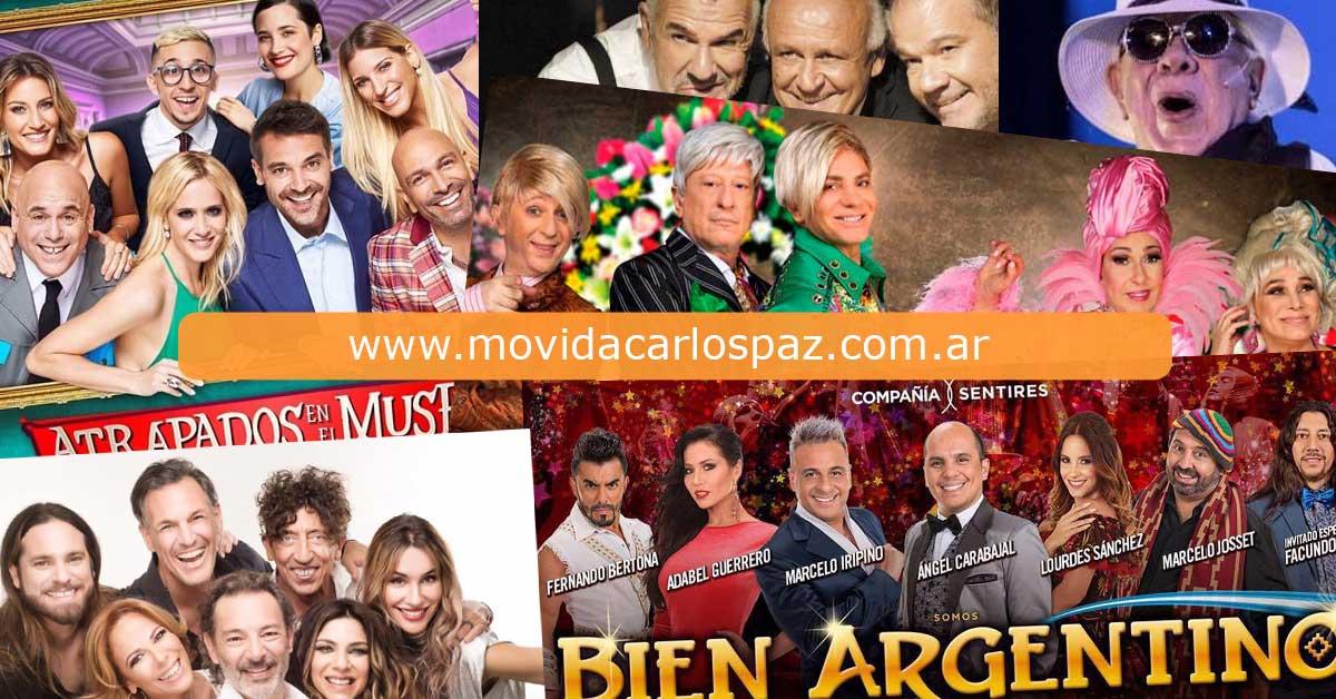Obras Teatro de Carlos Paz 2020