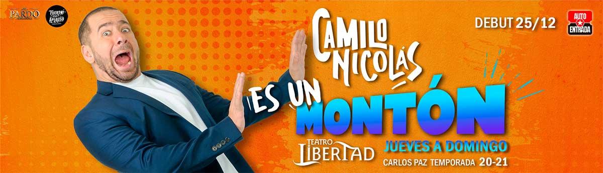 Obra de Teatro Camilo Nicolás Es un Montón Villa Carlos Paz